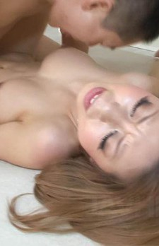 Ryuu Narushima Asian has hairy pussy fucked with finger and penis