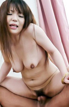 Asuka Ayanami Asian with dark nipples has cock deep inside peach