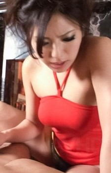 Kanade Otowa Asian with big eyes rubs stiffy with feet and hands