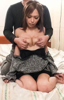 Rina Asian with such hot boobs has asshole fucked with fingers