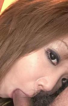 Mizuki Ishikawa Asian licks and sucks dicks till gets cum on lips