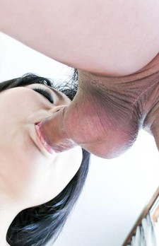 Haruna Katou Asian with round jugs is fucked after sucking penis