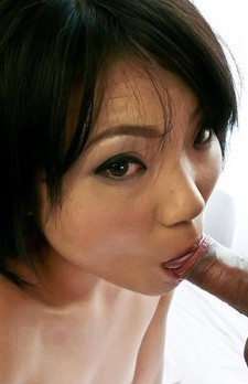 Haruna Katou Asian with small nipples is fucked in mouth and twat