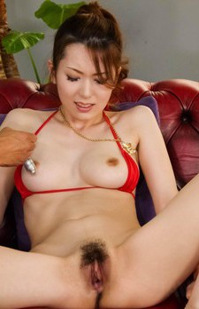 Yui Hatano Asian with tit out of bra gets cum on face after fuck