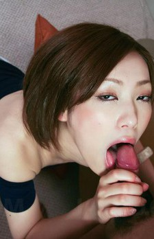 Nene Iino Asian is so erotic sucking and licking hard shlong