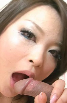 Yuu Haruka Asian plays with tongue on stiffy and sucks it whole