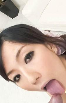 Manami Komukai Asian licks erect joystick with naughty attitude