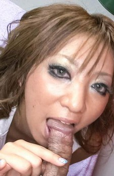 Juri Sawaki Asian sucks penis and teases wet nooky with vibrators