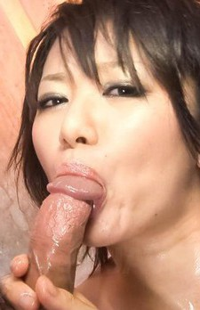 Haruka Uchiyama Asian with round oiled tits is pumped in crack