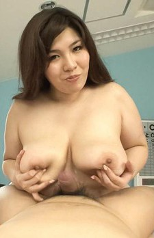Yume Sazanami Asian takes dick in mouth and between generous cans