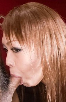 Rina Asian is so hot while sucking dong and licking crown jewels