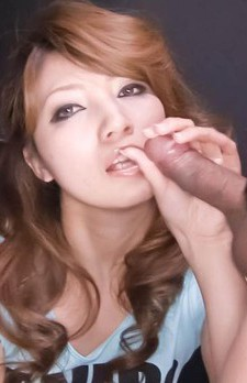 Misaki Aiba Asian is proud showing cum she gets from sucking dick