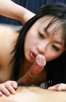Nozomi Hazuki Asian in hot lingerie sucks boner and gets vibrator