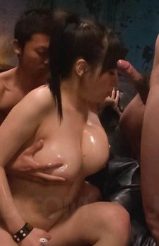 Azusa Nagasawa Asian has big cans oiled and takes tools in mouth