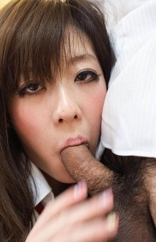 Mao Miyazaki Asian strokes, licks and sucks woody so damn well