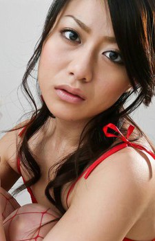 Hina Aisawa Asian in red fishnet and lingerie sucks dick so well