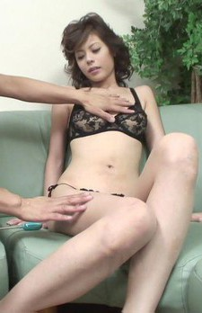 Rino Asuka Asian has asshole and slit fucked with vibrators