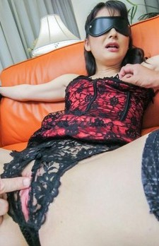 Ayumi Iwasa is fucked with dildo through crotchless and gets cum