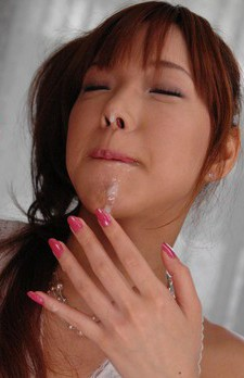 Serina Hayakawa Asian in white dress sucks candy and phallus