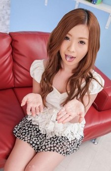 Mika Nakagawa in short skirt gets cum on tongue after blowjob