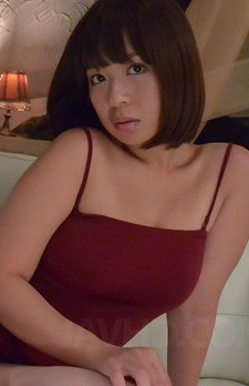Wakaba Onoue Asian rubs dong of big tits till gets cum in mouth