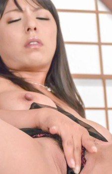 Ryoko Murakami busty sucks balls and strokes dick till gets cum