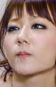 Yurika Miyachi gets cum on and in mouth from many sucked penises