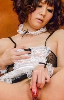 Yurika Miyachi licks cock till gets cum and is fucked with dildo