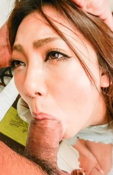 Hikari Asian doll with firm assets has cock filling her mouth