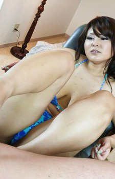 Airi Ai Asian with huge cans sucks dong and balls til gets sperm