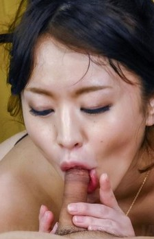 Kaede Niiyama busty has crack licked over thong and sucks dongs