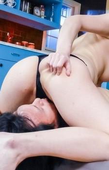 Kaede Niiyama busty licks and sucks cocks and rides guy mouth