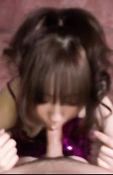 Hitomi Fujihara Asian with thong in asshole gives strong blowjob