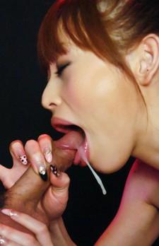 Miina Yoshihara Asian wants sperm in mouth after sucking boner