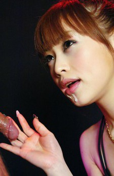 Miina Yoshihara Asian licks and sucks boner till sperm appears