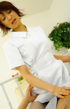 Miriya Hazuki Asian nurse wants to make patient better by sucking