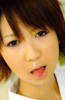 Miriya Hazuki Asian nurse sucks and licks patient hard phallus