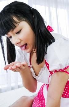 An Koshi Asian sticks tongue in man asshole and licks his cock
