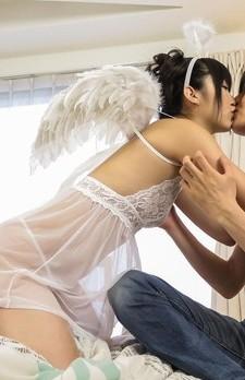 Maria Kotobuki Asian angel gets cum in mouth from sucking boner