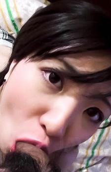 Ichigo Asian licks boner and satisfies her pussy with vibrator
