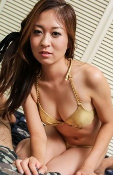 Risa Misaki Asian with big tits fills mouth with cum from dick