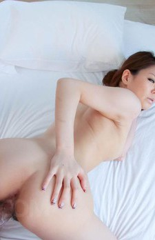 China Mimura Asian is pumped after she licked and stroked penis