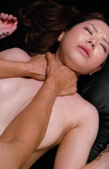 China Mimura Asian in red and black lingerie gets pink vibrator