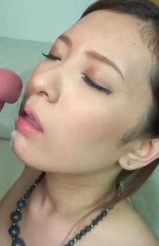 Yui Kasugano Asian with nude juicy titties sucks two shlongs