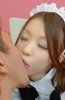 Nao Kojima Asian shows cunt in panty to dude and has it licked