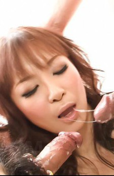 Misa Kikouden Asian gets dicks in mouth and fake penis in pussy