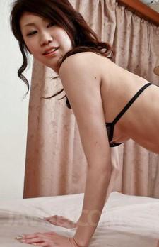 Huuka Takanashi Asian in black lingerie gets cum on generous tits