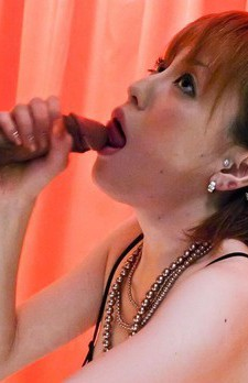 Kaoru Amamiya Asian with exposed tits licks hard shlong so fine