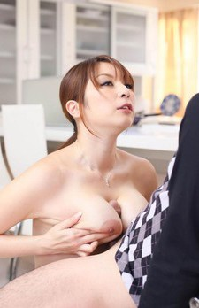 Araki Hitomi Asian has nipples sucked and got between chopsticks