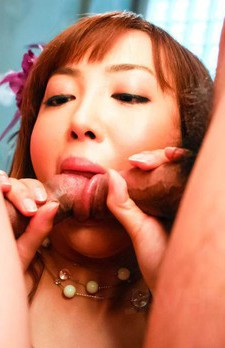 Mami Asakura Asian has cans squeezed while is fucked in hot box